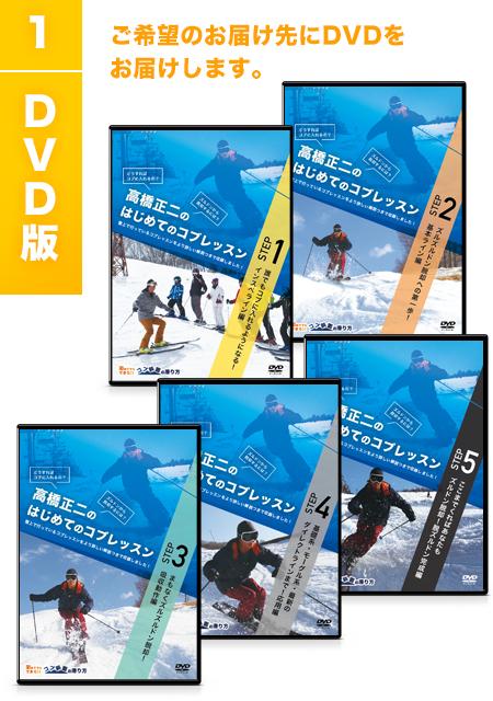 1)DVD版 ご希望のお届け先にDVDをお届けします。
